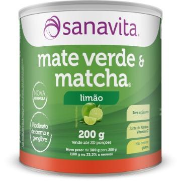 MATE VERDE & MATCHA LIMAO SANAVITA LATA 200G