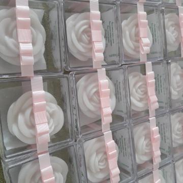 Lembrança de Rosa em Caixa de Acetato