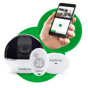 iC7 - Kit Câmera Wi-Fi e Alarme Integrado