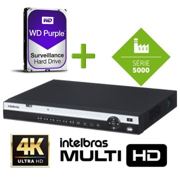 DVR MHDX 5108 4K ULTRA HD com HD Purple de 2TB