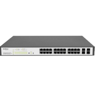 SG 2404 PoE - Switch Gerenciável 24 portas PoE Gigabit Ethernet com 4 Mini-GBIC compartilhadas