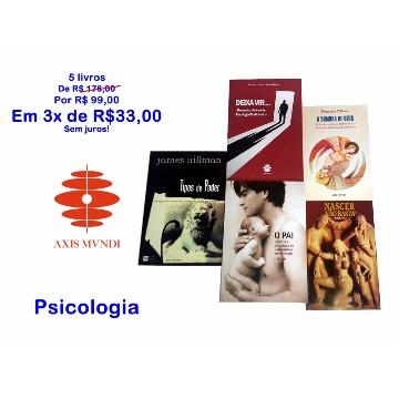 5 livros por 3 x R$33 - Psicologia