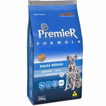 Ração Premier Super Premium Formula Adultos Raças Médias Frango 20kg