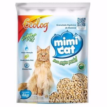 Granulado de Madeira Higiênico Mimi Cat para Gatos 4kg