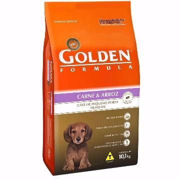 Ração Golden Formula Filhotes Raças Pequenas Carne e Arroz 10,1kg