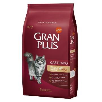 Ração Gran Plus Premium Especial Gatos Castrados Frango e Arroz 10,1kg