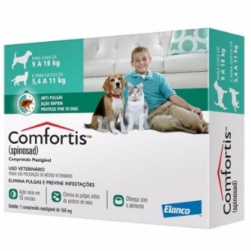 Anti-pulgas Comfortis Tablete 560mg - 9 a 18kg