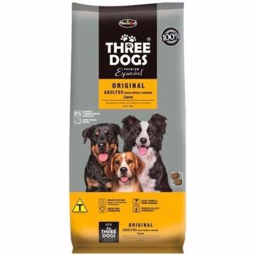 Ração Threedogs Premium Esp. Original Adultos Raças Médias e Grandes Carne 20kg