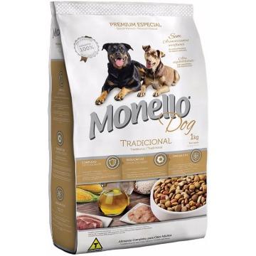Ração Monello Premium Esp. Tradicional Adultos Raças Médias 1kg