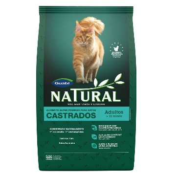 Ração Natural Super Premium Gatos Castrados 7,5kg