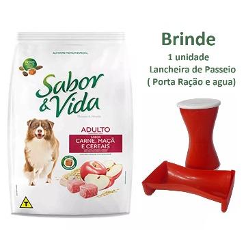 Ração Sabor e Vida Premium Especial Adultos Carne, Maçã e Cereais 20kg