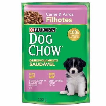 Dogchow Sache Filhotes Carne e Arroz 100gr