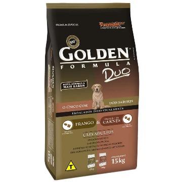 Ração Golden Duo Adultos Raças Médias Frango e Carne 15kg