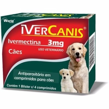 Ivercanis 3mg C/4 Comprimidos