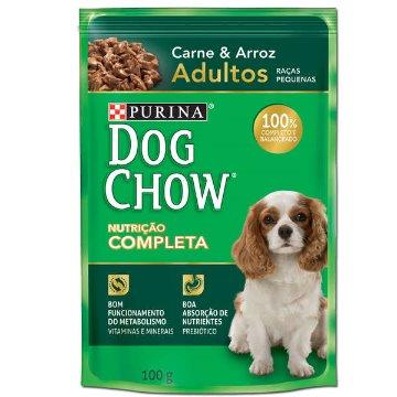Dogchow Sache Adultos Raças Pequenas Carne e Arroz 100gr