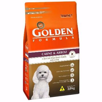 Ração Golden Formula Adultos Raças Pequenas Carne e Arroz 3Kg
