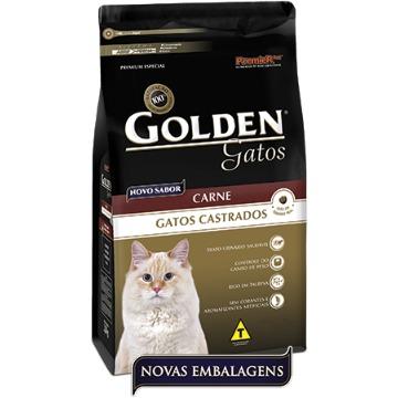 Ração Golden Gatos Castrados Carne 10,1kg