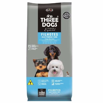 Ração Threedogs Premium Esp. Filhotes Raças Pequenas e Mini 3kg