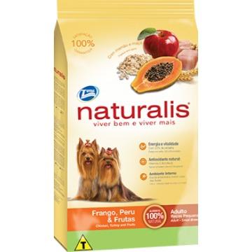 Ração Naturalis Premium Esp. Adultos Raças Pequenas Frango, Peru e Frutas 2kg