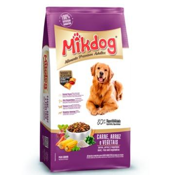 Ração Mikdog Premium Adultos Raças Médias Carne, Arroz e Vegetais 20kg
