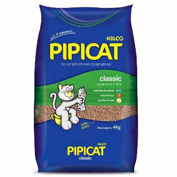 Areia Higiênica Pipicat Classic Gato 4kg
