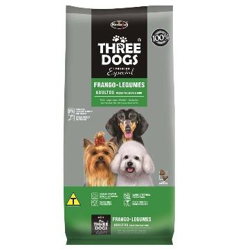 Ração Threedogs Premium Esp. Adultos Raças Pequenas e Mini 15kg