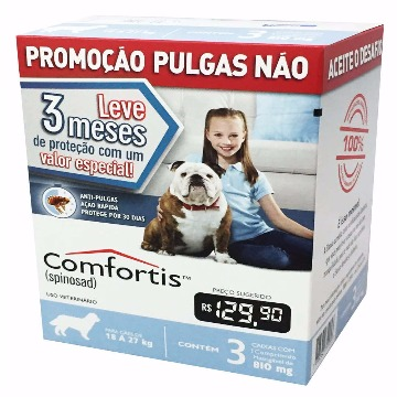 Anti-pulgas Comfortis Tablete 810mg - 18 a 27kg - COMBO 3 UNIDADES