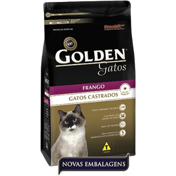 Ração Golden Gatos Castrados Frango 10,1kg