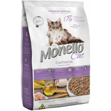 Ração Monello Premium Esp. Gatos Castrados 10,1kg