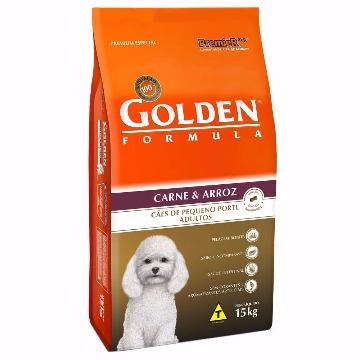 Ração Golden Formula Adultos Raças Pequenas Carne e Arroz 15kg