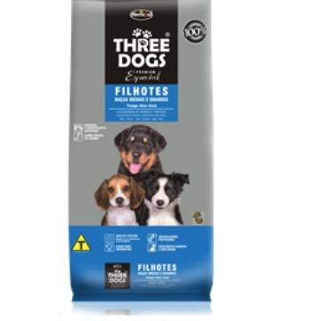 Ração Threedogs Premium Esp. Filhotes Raças Médias e Grandes  8kg