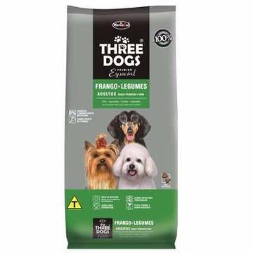 Ração Threedogs Premium Esp. Adultos Raças Pequenas e Mini 3kg
