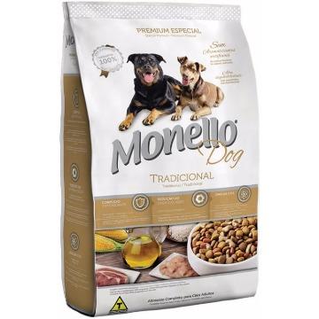 Ração Monello Premium Esp. Tradicional Adultos Raças Médias 8kg