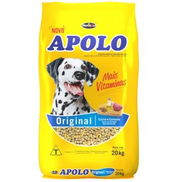Ração Apolo Original Adultos Raças Médias e Grandes Carne e Cereais 20kg