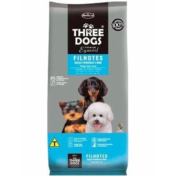 Ração Threedogs Premium Esp. Filhotes Raças Pequenas e Mini 8kg