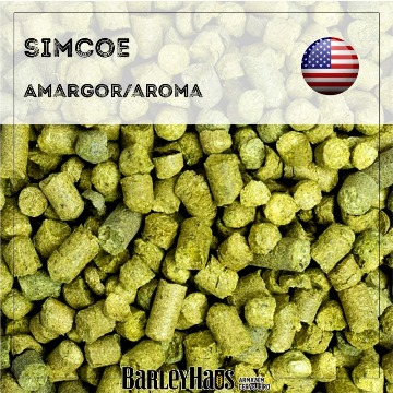 Lupulo Simcoe Pellet T-90 14,8 A. Alfa - Pacote 50 g