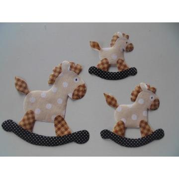 cavalo de pau kit aplique 3 peças