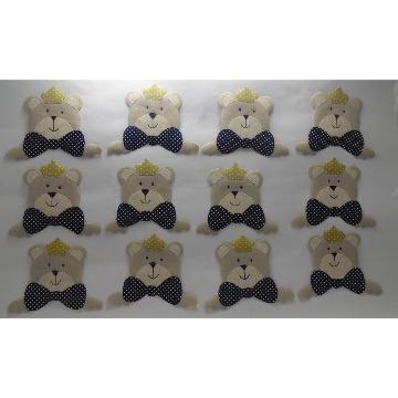 kit lembrancinha de ursinhos com 12 pçs