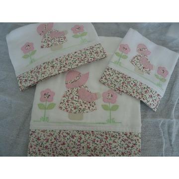 kit de toalha lenço de boca e fralda