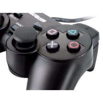 CONTROLE JOYSTICK USB PRETO ANALOGICO (05)