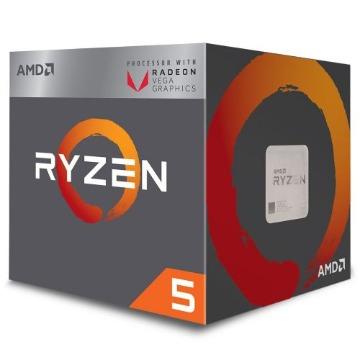 P1331 Processador AMD RYZEN 5 2400G 3.6GHz 6MB com Wraith Stealth Cooler / Radeon VEGA 11 / AM4 / 65W