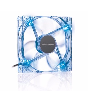 COOLER FAN 12X12 CM C/ LED AZUL (05)