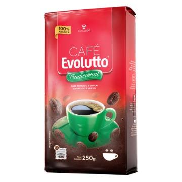 CAFÉ TORRADO E MOÍDO VACUO 100% ARÁBICA EVOLUTTO TRADICIONAL 250 G