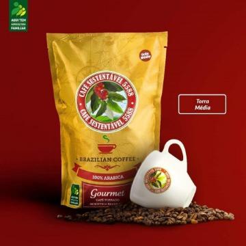 CAFÉ TORRADO EM GRÃO GOURMET SUSTENTÁVEL 5588 - 500Gr