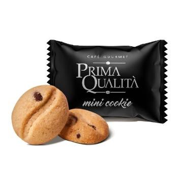 MINI COOKIE PRIMA QUALITA SABOR BAUNILHA C/GOTAS CHOCOLATE 700G - APROX.200UN