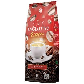 CAFÉ TORRADO EM GRÃO SUPERIOR EVOLUTTO ESPRESSO 1 KG