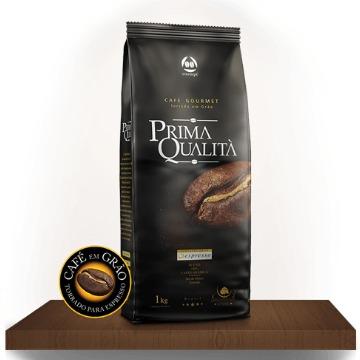 CAFE TORRADO EM GRAO GOURMET PRIMA QUALITA 1 KG