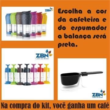 KIT PRESSCA (Cafeteira + Espumador + Balança PRETA)