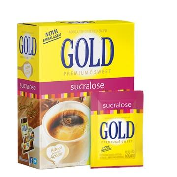 ADOÇANTE EM SACHE SUCRALOSE GOLD 600mg - CX/1000un