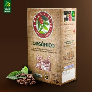 CAFÉ TORRADO E MOÍDO ORGÂNICO SUSTENTÁVEL 5588 A VÁCUO - 500Gr